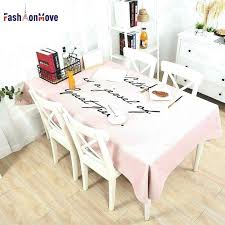 decorative table cloth letter print cotton linen waterproof tablecloth dining mainstays round inch 20 decorativ
