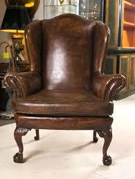 Wingback Chair Leather Wingback Chair Helpformycreditcom