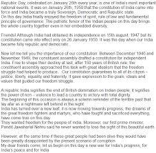republic day essay in hindi punjabi english essay on republic  republic day essay in english images
