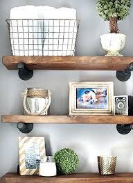 bathroom wall shelves wood rustic shelf ideas wooden mounted