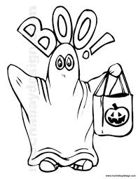 Cute Boo Ghost Printable Halloween Kids Coloring Page