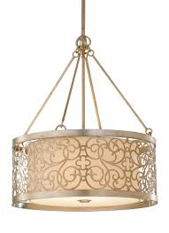 4 light shade pendant