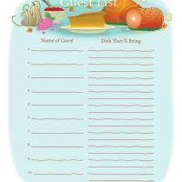 Printable Thanksgiving Potluck Sign Up Sheets Happy Easter