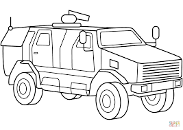 Small Picture Military Armored MRAP Vehicle coloring page Free Printable