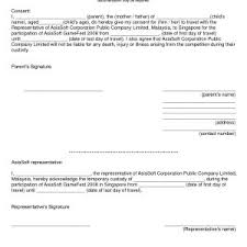 Sample Letter Of Consent To Travel Sample Letter Of Parental Consent To Travel Abroad Archives Exala