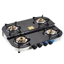 kitchen gas stove. Apex Double Decker 4 Burners Manual Ignition Glass Top Gas Stove | Stoves \u0026 Hot Plates - HomeShop18 Kitchen