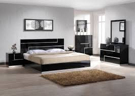 modern bedroom furniture. Nightstand Table White Simple Bed Design Laminated Wooden Floor Black Bedroom Furniture Sets Fur Rug Modern