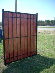 metal privacy fence. Delighful Fence Metal And Wood Privacy Fence  By Heritage Iron MN For