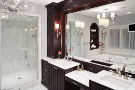 Dark bathroom vanity Dark Walnut 28 Gorgeous Bathrooms With Dark Cabinets Home Stratosphere 28 Gorgeous Bathrooms With Dark Cabinets lots Of Variety