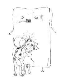 鬼太郎が猫娘に壁ドンしたらこうなるwww A 鬼太郎 イラスト面白い