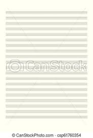 Blank Sheet Of Music Blank Sheet Music Sheet For The Notation Of A Voice Or Solo Instruments Blank Sheet Music Vector