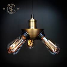 industrial lighting bare bulb light fixtures. Bare Bulbdant Light Fixture Hanging Eddie Sons Triple Head Vintage Bulb Pendant Lighting Industrial Fixtures I
