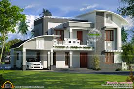 House Plan Curved Roof Flat Roof House Plan Kerala Home Design And, 2 Floor  .
