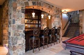 basement bar stone. view in gallery classic basement bar design with a pool table next to it [design: hendel homes stone
