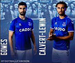 Polyester type of brand logo: Everton Fc 2020 21 Hummel Home Kit Football Fashion