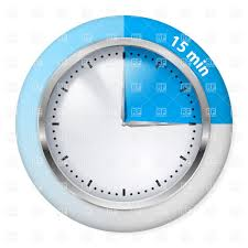 15 Minutes Blue Timer Icon Stock Vector Image