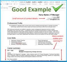 Cv Good Example Cv Image Image 4 Totaljobs