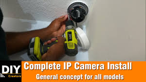How to install a IP camera - YouTube