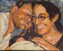 IQF portrait quilts, part 4 | Maria Elkins & Joy (Lovebirds Three) by Phyllis Cullen Adamdwight.com