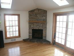 fireplace living room modern corner gas fireplace