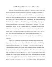 sample five paragraph thematic essay on of mice and men fliphtml thinnest
