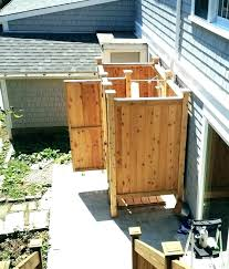 pvc outdoor shower shower enclosure outdoor shower enclosure ideas stall cedar free standing plans outdoor shower
