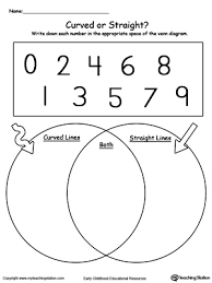 Math Venn Diagram Worksheet Venn Diagram Numbers Curved Or Straight Myteachingstation Com
