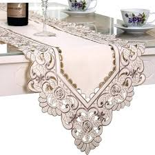 table runner with tassels decorative embroidered table runner with tassels lace fl table cover table runners table runner