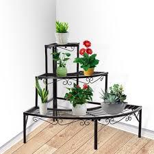 3 tier outdoor indoor pot plant stand garden metal planter shelves corner shelf trade me