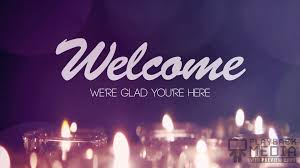 Welcome Purple Advent Candles Welcome Motion Background