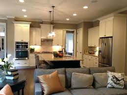 Full Image For Open Floor Plan With Large Kitchen Island Open Kitchen Floor  Plans With Islands ...