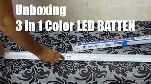 Colour Changing Tube Light 3 In 1 Color Led Tube Light Wipro Color Changing 22 Watt Led Batten Light