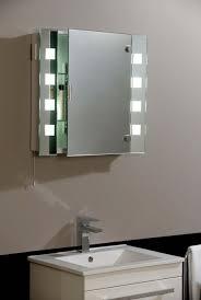 Recessed Bathroom Mirror Cabinets Bathroom Cabinets With Lights Mirror For Bathroom Cabinet