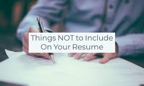 What Not To Include In Your Resume Cv Inclusions Cv Owl