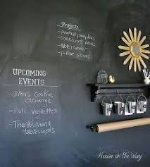 how to make a chalkboard wall in your home office craft room chalkboard paint chalkboard paint office