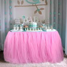 birthday table cloth baby shower decorations tulle skirt wedding see larger  image clothes
