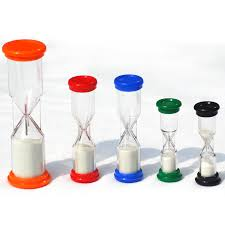 Minute Timers Quality Sand Timer Pack 1 Each Of 30 Sec 1 2 3 5 Minute Timers