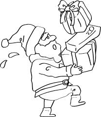 サンタプレゼントクリスマスかわいい白黒無料イラスト57758 素材good