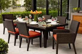 full size of decorative brown rattan wicker dining set mercial patio furniture 7 pieces dining set