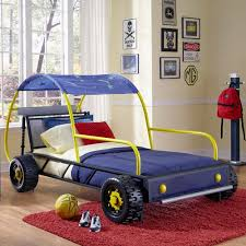 Powell Furniture Twin Dune Buggy Car Bed with Wheels