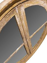 round wooden frame mirror for a fine example of reinterpretation and realization of an antique 17th century architectural element a