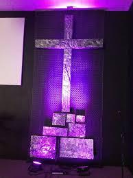 church lighting ideas. closeup of tin foil cross at elim church easter stage design lightinglighting ideaskids lighting ideas