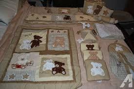 teddy bear crib sheet new 13 pc teddy bear crib bedding set gender neutral for sale