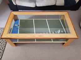 i made a dallas cowboys coffee table when i was in highschool 2016 figured i d show it off before i replace romo and dez