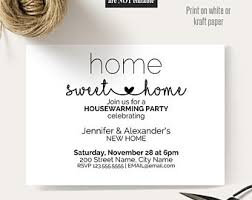 housewarming cards to print housewarming invite etsy