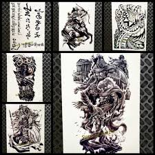 греческой мифологии воин дизайн временные татуировки