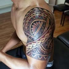 Tribal Maori Mens Tattoo On Arm Samoantattoossleeves Tattoo