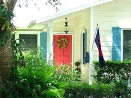 yellow house red door red door yellow door yellow house blue shutters red door exterior house