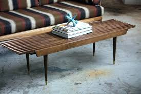 slat coffee table coffee table into a bench coffee table bench lovely appealing mid century modern slat coffee table