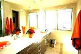 Apartment Bathroom Designs Beauteous Orange Bathroom Accessories Brown Sets Gorgeous And Decor Set Spice